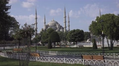 The Blue Mosque in Istanbul city. Turkey in 4K Stock Footage