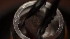 Preparation for Smoking fruit orange aroma hookah. Bookmark burning coals, soft Stock Footage