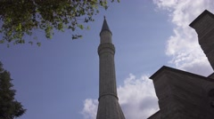 Minaret. The Blue Mosque in Istanbul city. Turkey in 4K Stock Footage