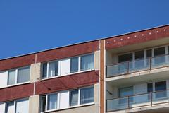 Detail of top of the prefabricated house Kuvituskuvat