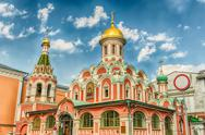 Kazan Cathedral in Red Square, Moscow, Russia Stock Photos