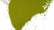 Yellow paint dripping down over screen. Colored paint Stock Footage