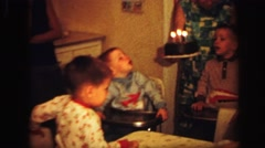 1972: simple and happy birthday celebration at home with the family LYNBROOK Stock Footage