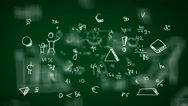 Hand-Drawn Numbers - Background Loop - Symbols and drawings - Green Stock Footage