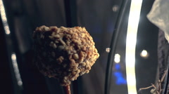 Candy apple autumn outside Stock Footage