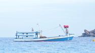 Diving Boat near Similan Stock Footage