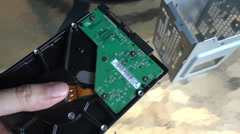 Hold old hard drive computer equipment Arkistovideo