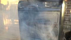 Smoking computer burning Stock Footage