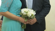 Married couple standing in the wedding hall Stock Footage