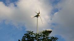 Working wind turbine Stock Footage