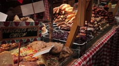 Christmas diverse food. Stock Footage