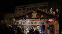 Christmas shopping Pavilion. Stock Footage
