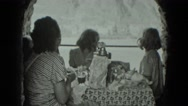 1951: mom and her kids are having tea party GERMANY Stock Footage