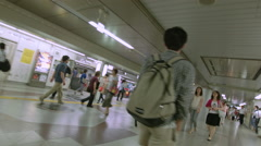 Timelapse of Tokyo Subway in Rush Hour Stock Footage