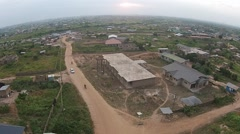 Aerial Africa New Developing Site Stock Footage