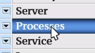 Processes. My own design of program menu. Stock Footage