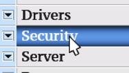 Security. My own design of program menu. Stock Footage