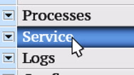 Service. My own design of program menu. Stock Footage