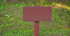 Wooden Sign Post with No Writing Stock Footage