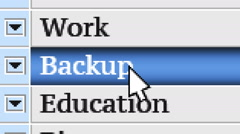 Backup. My own design of program menu. Stock Footage