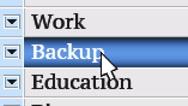 Backup. My own design of program menu. Stock Footage