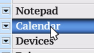 Calendar. My own design of program menu. Stock Footage