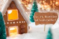 Gingerbread House, Bronze Background, Weihnachten Means Christmas Stock Photos