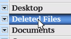 Deleted Files. My own design of program menu. Stock Footage