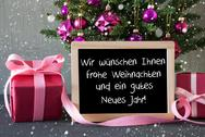 Gifts, Snowflakes, Gutes Neues Jahr Means Happy New Year Stock Photos