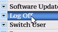 Log Off. My own design of program menu. Stock Footage