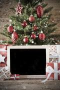 Nostalgic Christmas Tree With Copy Space Kuvituskuvat