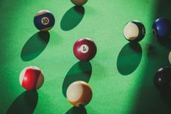 Snooker ball on billiard table Kuvituskuvat