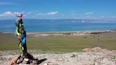 Beautiful Baikal view, landscape, Olkhon island, Baikal, Siberia, Russia Stock Footage