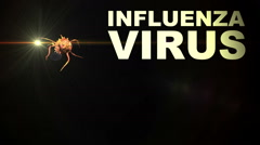 Animation - Illustration of Influenza Virus cells Stock Footage