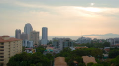 City skyline at sunset timelapse 4k (4096x2304) Stock Footage