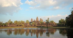 Abstract, Timelapse Flyby of Angkor Wat Temple in Cambodia Stock Footage