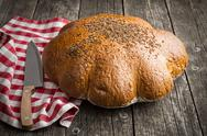 Large loaf of bread. Stock Photos