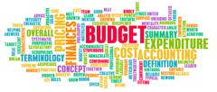 Budget Word Cloud Concept Piirros