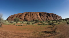 Ayers Rock Uluru Sliding time-lapse Stock Footage