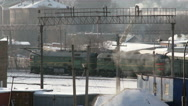Winter industrial city Stock Footage