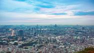 Seoul sunset skyline time lapse panorama Stock Footage
