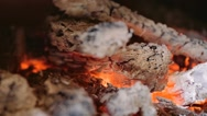 Live coals in a fireplace Stock Footage