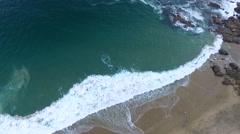 Waves in Laguna Beach, California Stock Footage