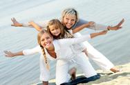 Happy grandmother, mother and daughter Stock Photos