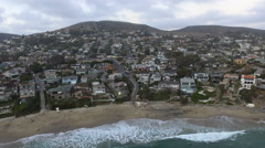 Flying Out to Sea in Laguna Beach, California Stock Footage