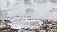 Close-up of melting ice in Jokulsarlon - Iceland Stock Photos