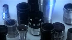 Lenses Spining Loop Stock Footage