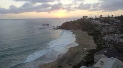 Sunset Over Laguna Beach, California Stock Footage