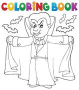 Coloring book vampire theme Stock Illustration