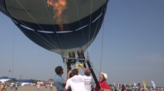 BANEASA ROMANIA-JULY 5 2016 General Aviation Exhibition Hot air balloon 4k UHD Stock Footage